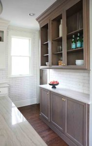 Distressed wood cabinetry