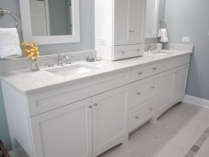 Double Sink Vanity on single wall