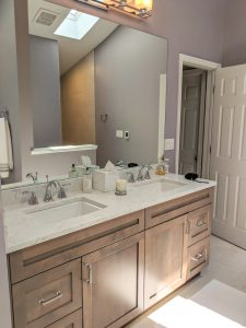 River Rock Retreat for a Master Bathroom