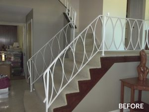 Before pic of staircase