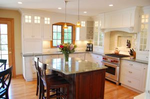 Trim With White Painted Cabinets