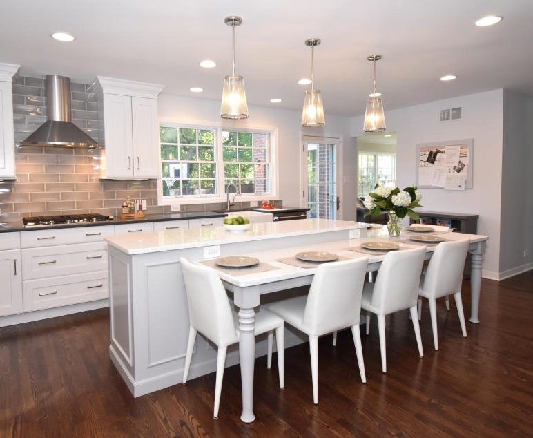 Trade In Your Table For A Two Tiered Kitchen Island Normandy Remodeling